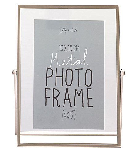 PAPERCHASE Avellino metal photo frame 4x6