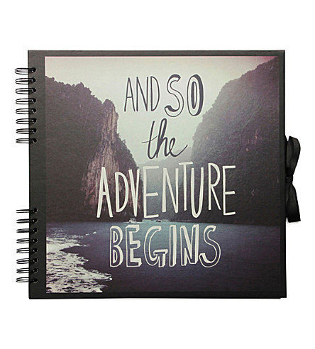 PAPERCHASE Adventure Begins large scrapbook