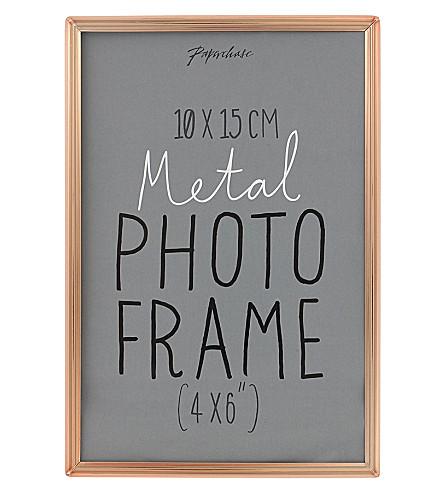 PAPERCHASE Lucera copper photo frame 4x6