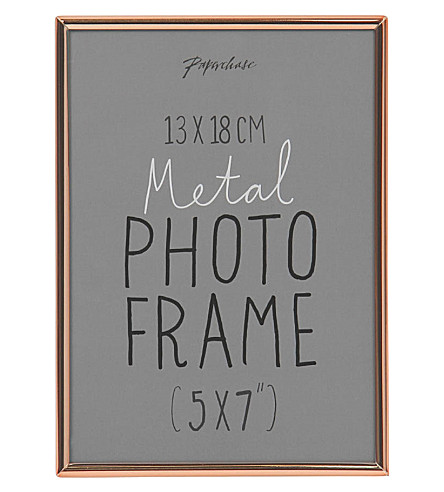 PAPERCHASE Lucera copper photo frame 5x7