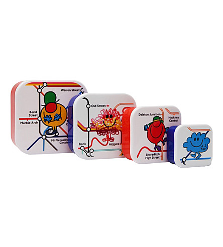 PAPERCHASE Mr. Men set of four snack boxes