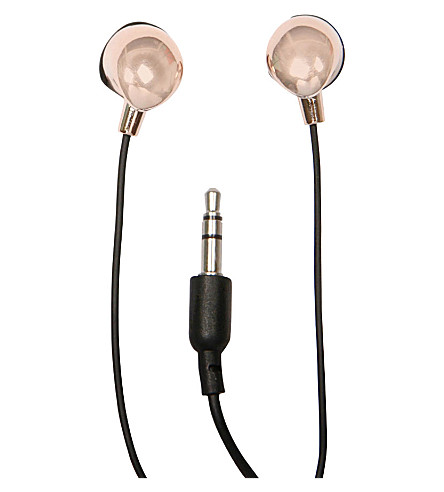 PAPERCHASE In-ear rose gold-toned headphones