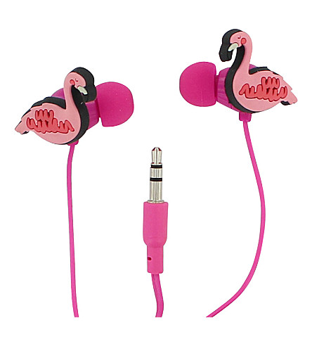 PAPERCHASE Flamingo in-ear headphones