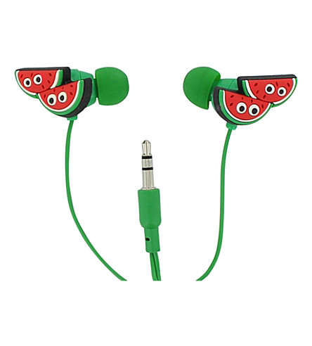 PAPERCHASE Watermelon in-ear headphones