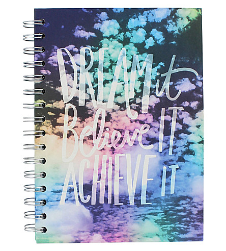PAPERCHASE Dream It, Believe It, Achieve It goal journal