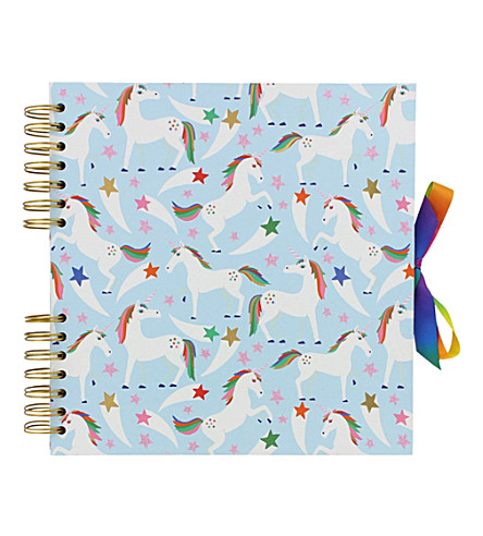 PAPERCHASE Unicorn Star Rainbow medium scrapbook