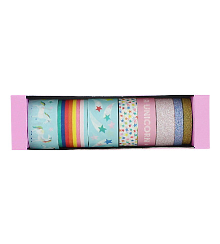PAPERCHASE Unicorn Star washi tape set of 8