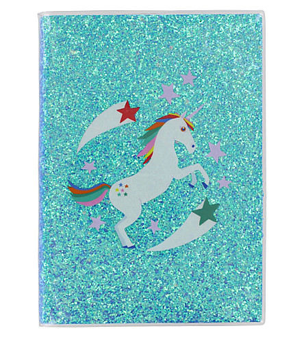 PAPERCHASE Unicorn Star A5 glitter notebook