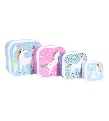 PAPERCHASE Unicorn Star set of four snack boxes