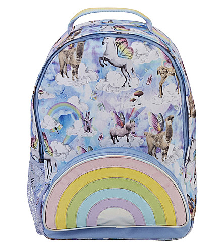 PAPERCHASE Flyaway unicorn-print canvas backpack