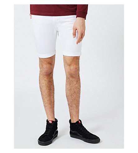 TOPMAN Slim-fit denim shorts (White