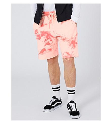 TOPMAN Lamar tie-dye cotron-jersey shorts (Pink