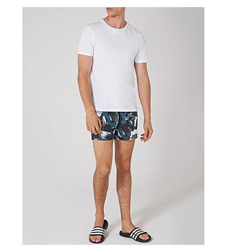 TOPMAN Digi camo-print swim shorts (Multi