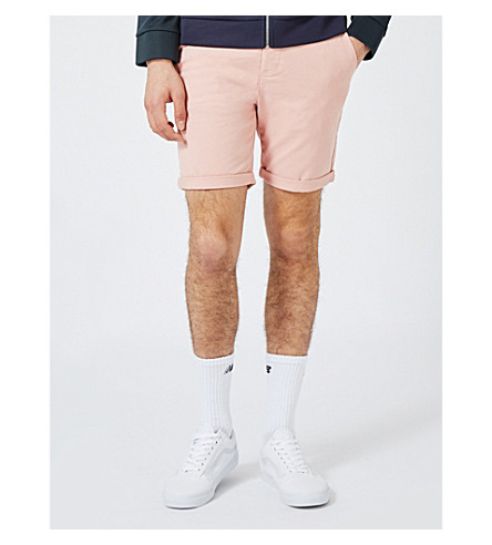 TOPMAN Slim-fit cotton shorts (Pink