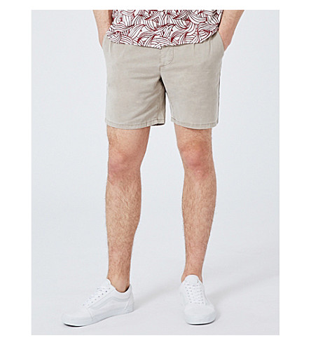 TOPMAN Slim-fit cotton chino shorts (Pink