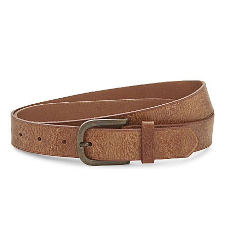 TOPMAN Leather belt (Light+brown