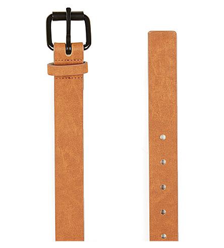 TOPMAN Washed suedette belt (Light+brown