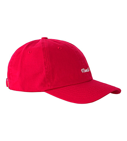 TOPMAN Mood embroidered cotton baseball cap (Red