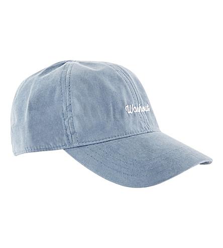 TOPMAN Washout strapback cap (Mid+blue