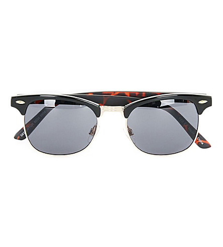 TOPMAN Clubmaster tortoiseshell sunglasses (Light+brown