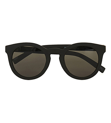 TOPMAN Rubberised round sunglasses (Black