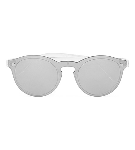 TOPMAN Layover Mirrored Sunglasses (Light+grey