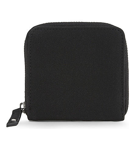 TOPMAN Suedette zipper-around wallet (Black