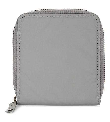 TOPMAN Reflective zip-around wallet (Silver