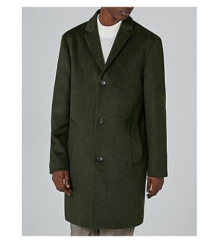 TOPMAN Felt coat (Black