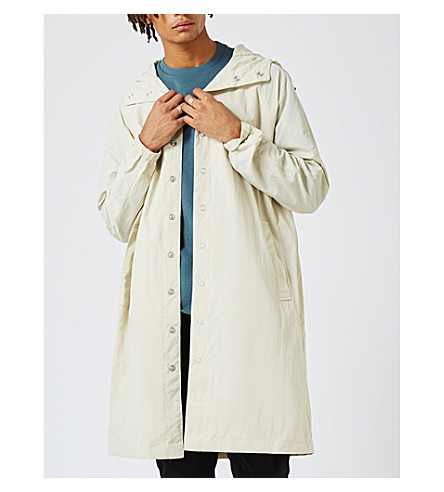 TOPMAN Taka shell parka coat (Multi