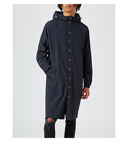 TOPMAN Taka shell parka coat (Blue