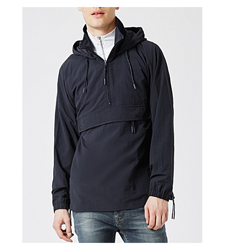 TOPMAN Stand-collar shell jacket