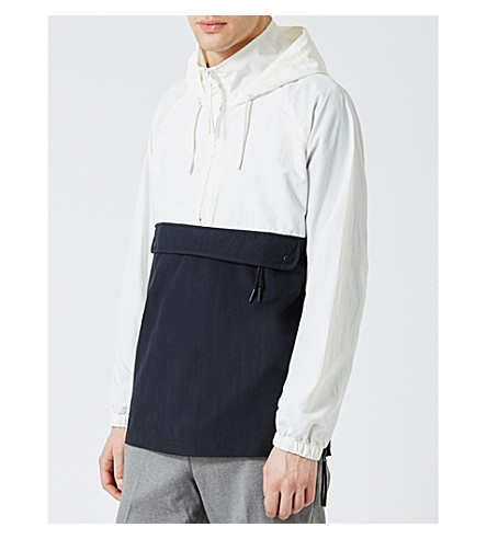 TOPMAN Stand-collar shell jacket (Black