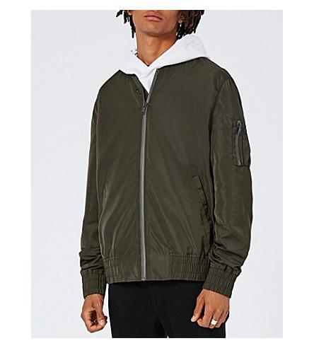 TOPMAN Elton shell bomber jacket (Khaki