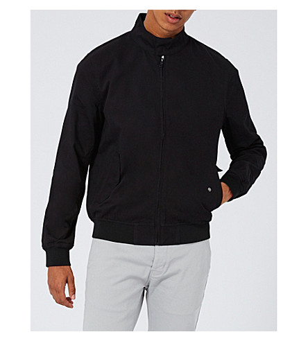 TOPMAN Harrington cotton jacket (Black