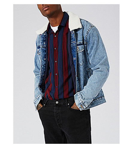 TOPMAN Acid Wash denim jacket (Blue