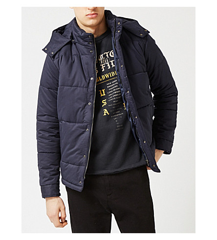 TOPMAN Quilted cotton-blend puffer jacket