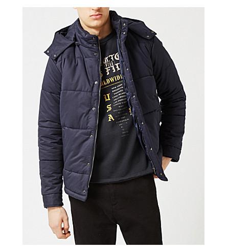 TOPMAN 绗缝棉质混纺羽绒外套