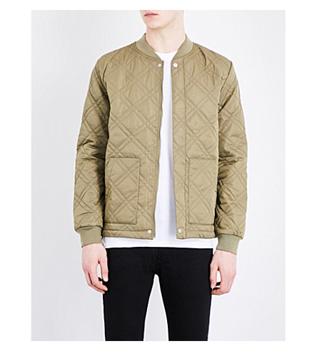 TOPMAN Quilted bomber jacket (Khaki