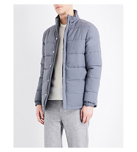 TOPMAN Topman Premium quilted shell puffer jacket