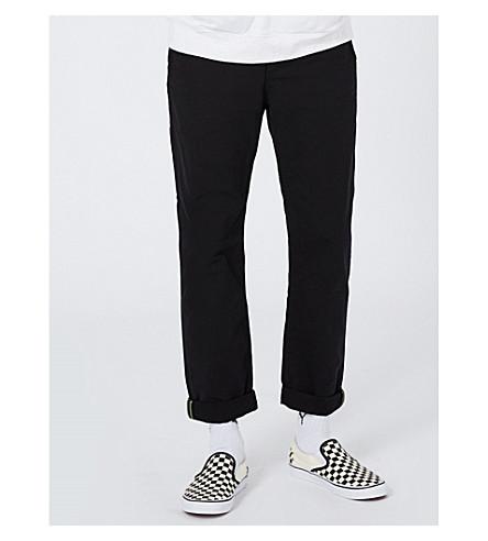 TOPMAN Standard-fit tapered cotton pants (Black