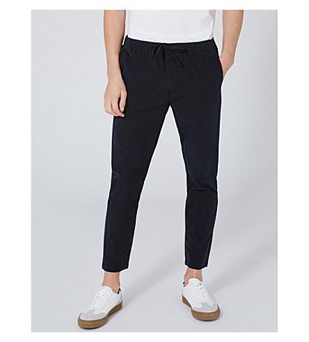 TOPMAN Rowen skinny-fit pinstripe trousers (Blue