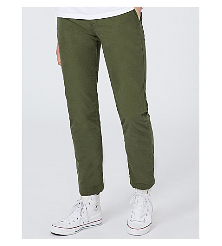 TOPMAN Standard-fit tapered cotton trousers (Khaki