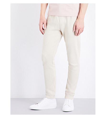 TOPMAN Relaxed-fit skinny jersey jogging bottoms (Stone