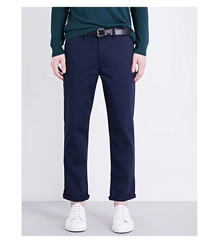 TOPMAN Standard-fit stretch-cotton chinos