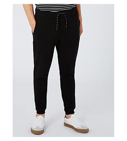 TOPMAN Super-skinny cotton-blend jogging bottoms (Black