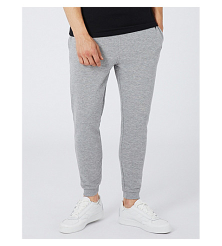 TOPMAN Super-skinny cotton-blend jogging bottoms (Grey