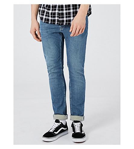TOPMAN Harrison slim-fit skinny jeans (Mid+blue