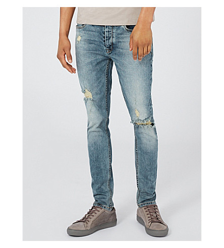 TOPMAN Yosemite slim-fit skinny jeans (Blue