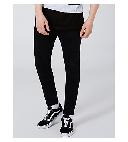 TOPMAN Jaggy slim-fit skinny jeans (Black